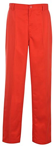 Mens 4 Pockets Golf Bright Trousers Pants (34W31R, Red)