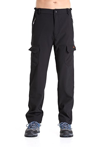 Men's Fleece-Lined Soft Shell Cargo Pants – Insulated, Water and Wind-Resistant