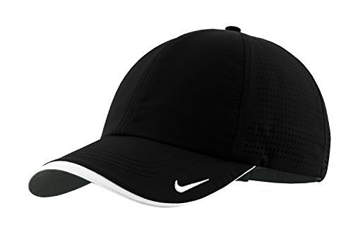 Nike Authentic Dri-FIT Low Profile Swoosh Embroidered Perforated Baseball Cap – Black