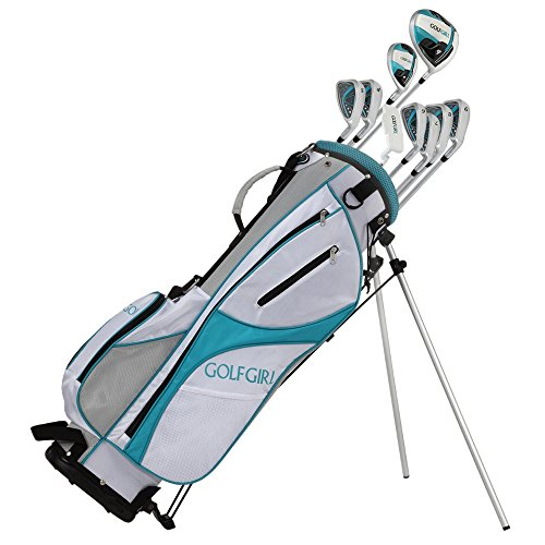 GolfGirl FWS3 Ladies Teal Complete All Graphite Right Hand Golf Clubs Set with Stand Bag
