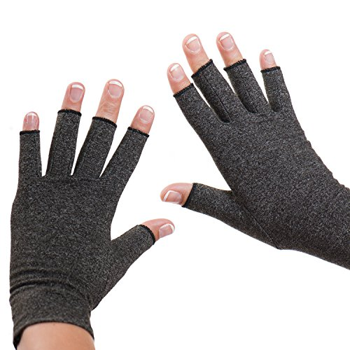Dr. Frederick's Original Arthritis Gloves – Warmth and Compression for relief of Rheumatoid and Osteoarthritis Joint Pain – Large