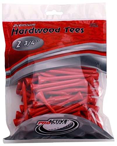 ProActive Sports 2 3/4-Inch Golf Tee (Pack of 100), Red